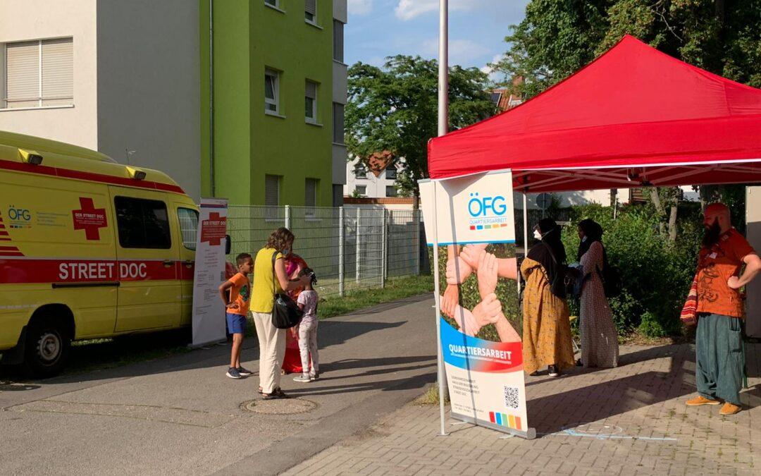 4. Impfaktionen des STREET DOC in der Kropsburgstraße